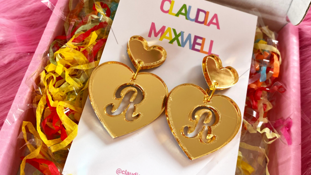Personalised Full Heart Earrings