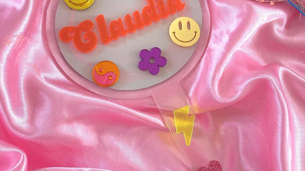 Personalised Handheld Mirror with Symbols 💖