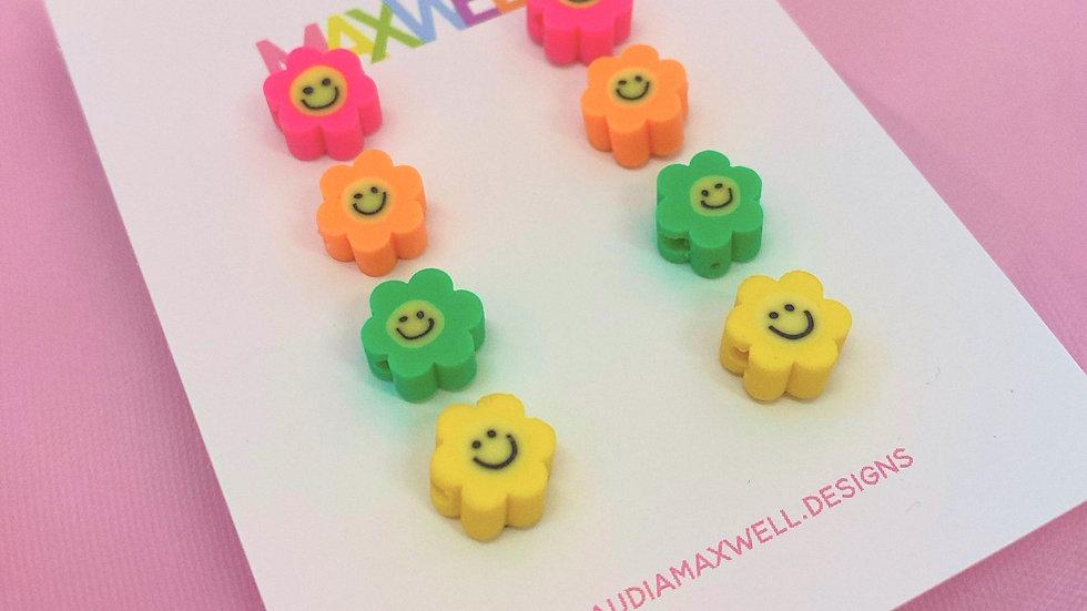 Flower Smiley Studs