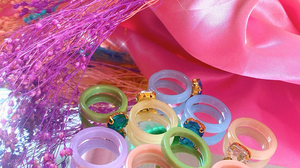 Diamanté Rings