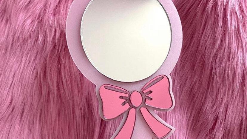 Small Personalised Handheld Makeup Mirror