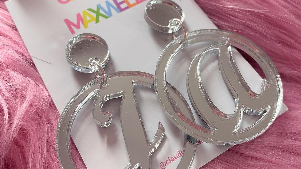 Personalised Circle Earrings