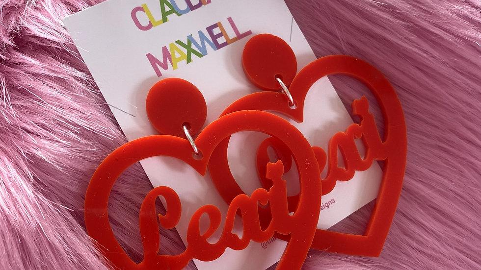 Personalised Heart Earrings