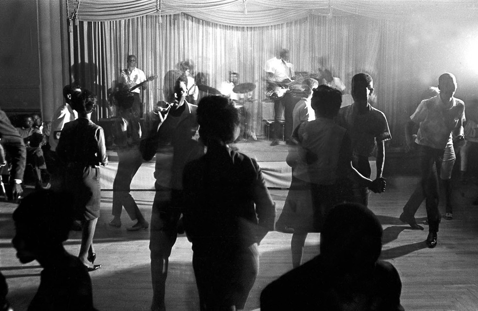 People dancing at the Laicos Club in Montgomery during a performance by King Tutt Jr. and the Untouchables, 1965-1968 circa.