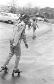 Andrew Smith skating on Smythe Curve in Montgomery during his Christmas vacation, January 1966.
