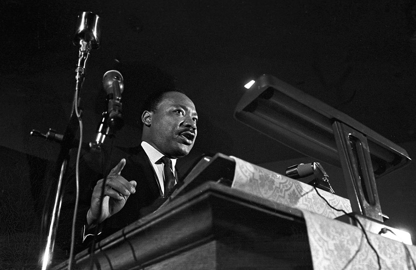 Martin Luther King Jr. at St. Paul AME Church in Birmingham, February 1968.