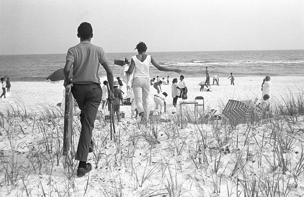 Johnson Beach in Pensacola, Florida, during spring vacation, May 1968.