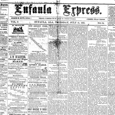 Civil War & Reconstruction Newspapers