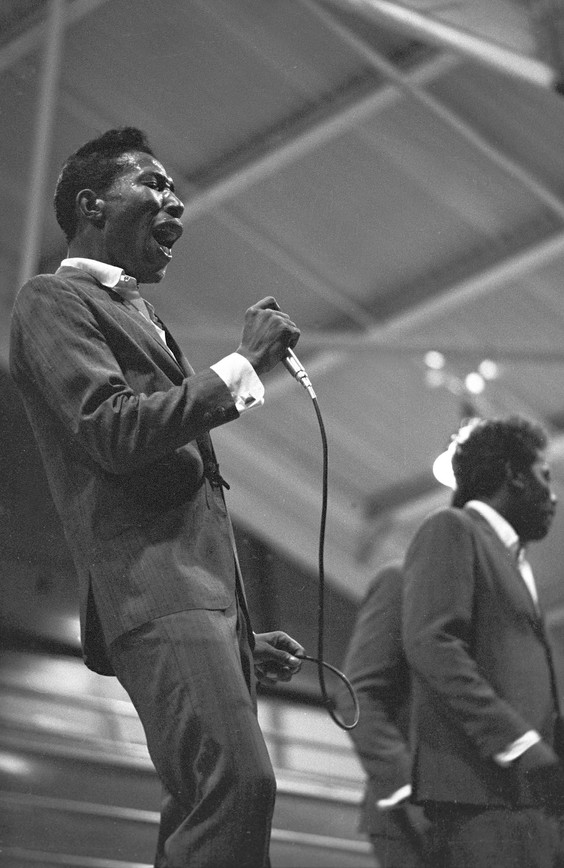 "Daniel ""Scotty"" Scott performing during a gospel concert at the Alabama State College Arena in Montgomery, 1967."
