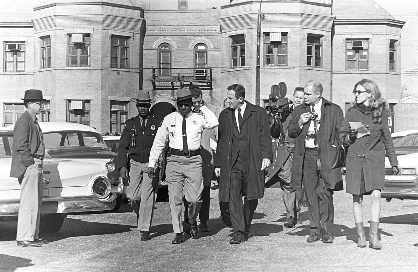 Lucius Amerson, Macon County's first African American sheriff, after being sworn into office, 1967.