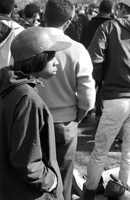 Gwen Patton and other Tuskegee students protesting the murder of Samuel L. Younge, January 1966.