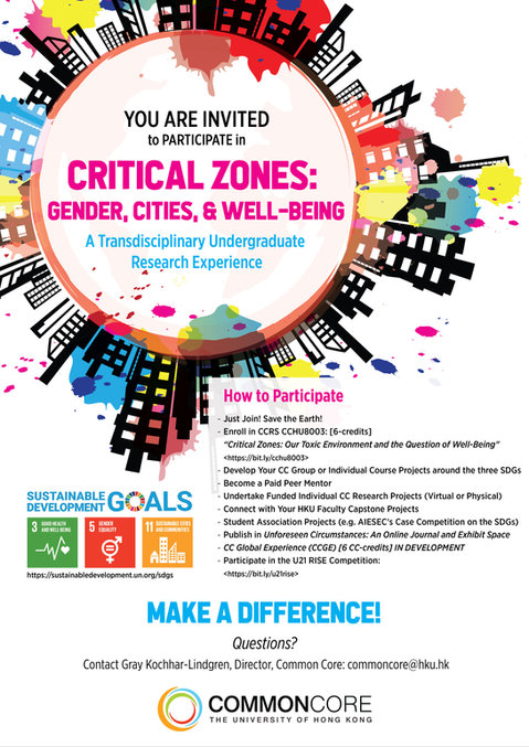 CCHU8003 Arts and Humanities Critical Zones: Our Toxic Environment and the Question of Well-Being