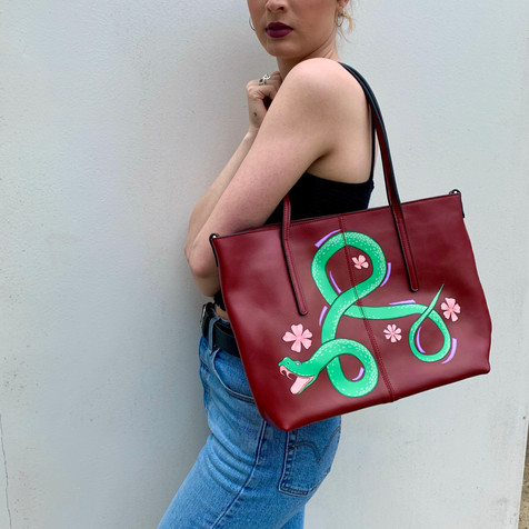 Green Snake Red Bag