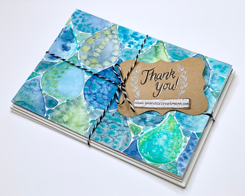 Waterdrop hand-painted cards