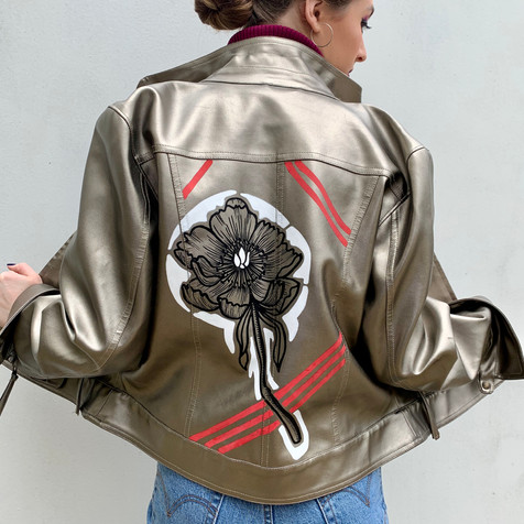 Graphic Flower Jacket