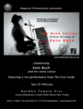 The Kick Inside - TKI - Perform The Songs of Kate Bush - Launch Poster