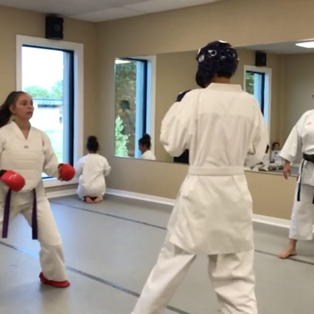 First time kumite __caskey  good __susylugo_ for teach him!!