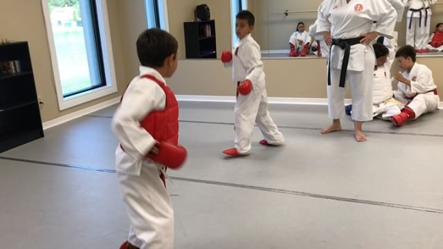 Our little karatekas..