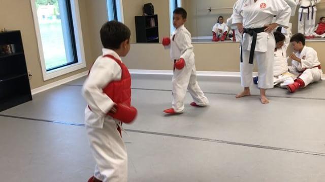 Our little karatekas..