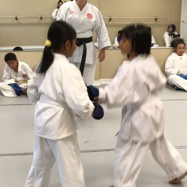 First time sparring!!! Good job girls!