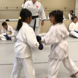 First time sparring!!! Good job girls!