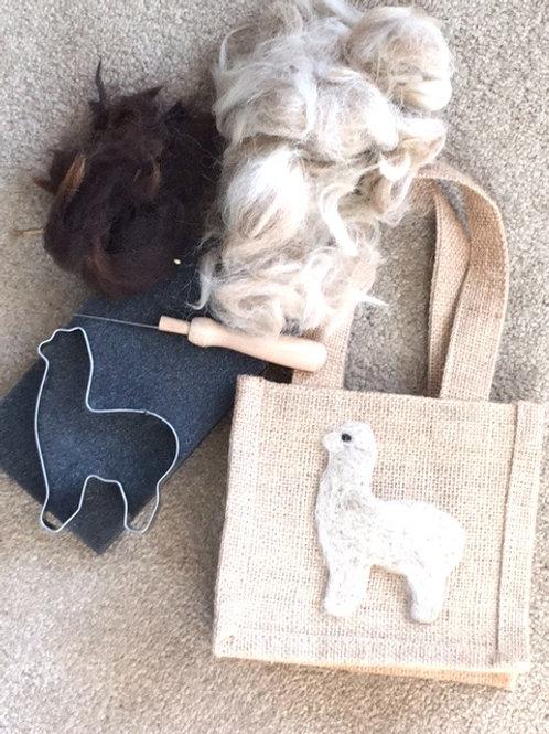 Alpaca Needle Felting Kit