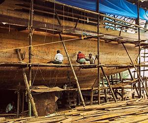 beypore ship building yard- green earth