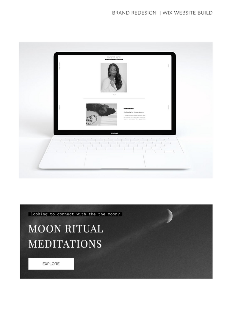 Black And White Project Ajna Website Moon Rituals Meditations