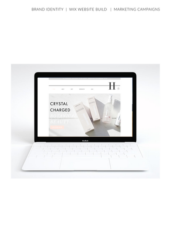 Computer Skincare Brand Website
