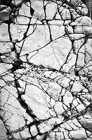 Cracked Rock Texture Black and White