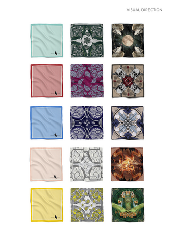 Pocket Chief Pocket Square Silk Hankerchief design paisley native american geometric