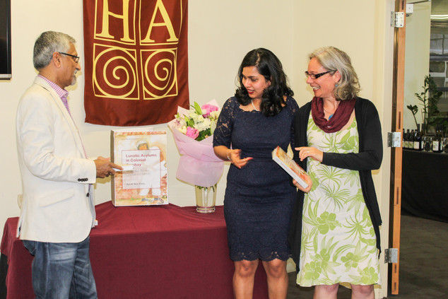Prof. Sekhar Bandyopadhya, VUW and Dr Cybele Locke, VUW launch  the book