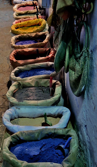 Chefchaouen dyes Morocco