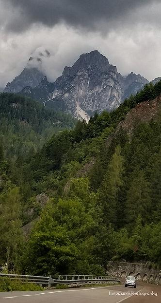 Dolomites road Italy