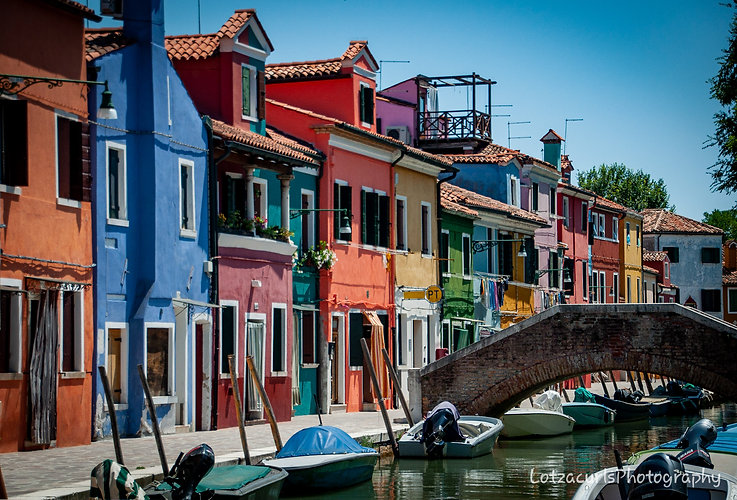 Burano colorful houses Italy