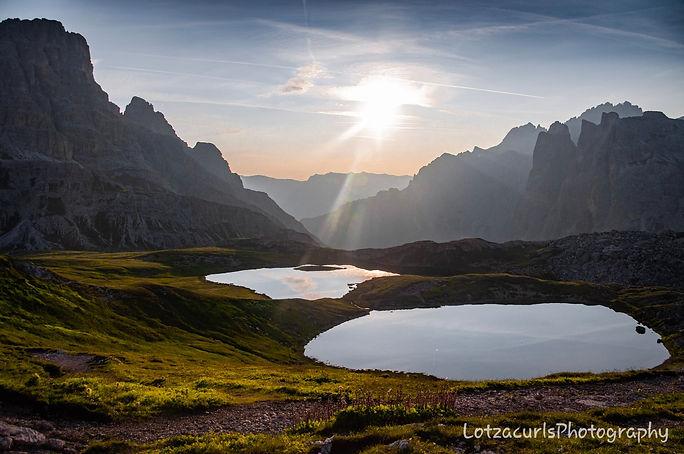 Dreizinnen lake sunrise Tre Cime di Lavaredo hike Dolomites Italy