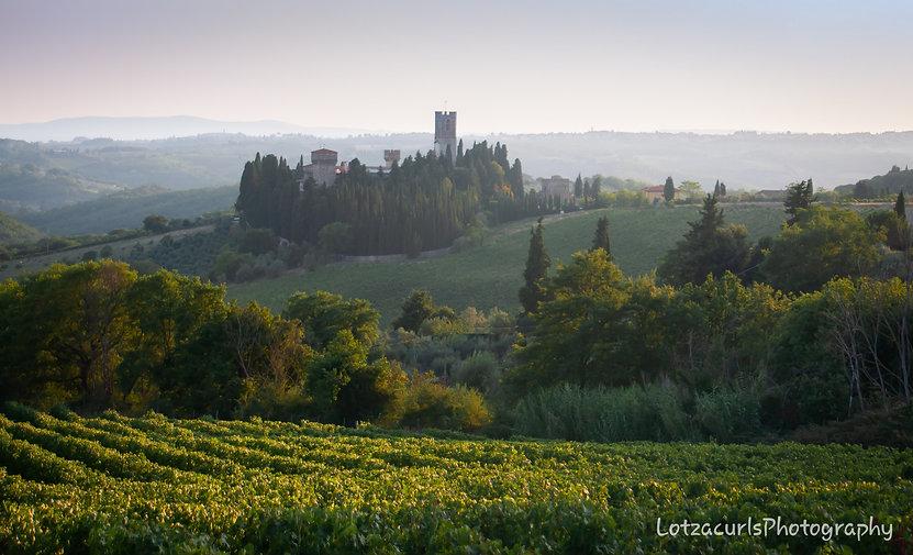 Badia a Passignano hilltop village Tuscany Italy