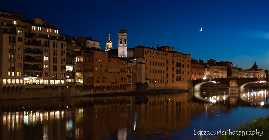 Florence nightime Tuscany Italy