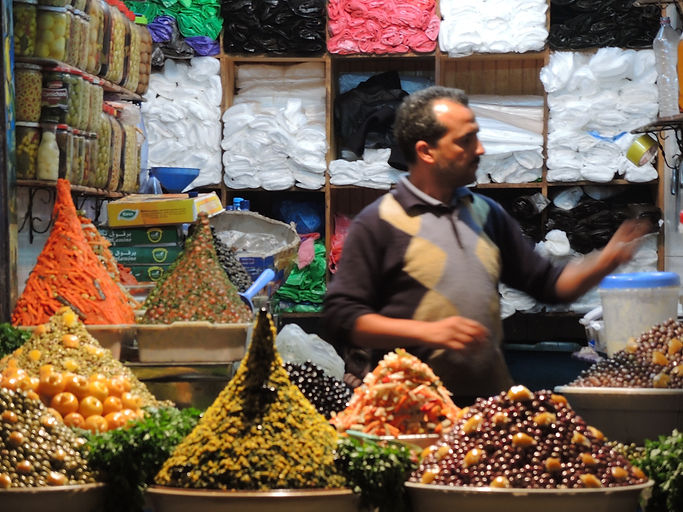 Olive merchant Morocco