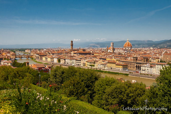 Florence Piazzale Michelangelo Tuscany Italy