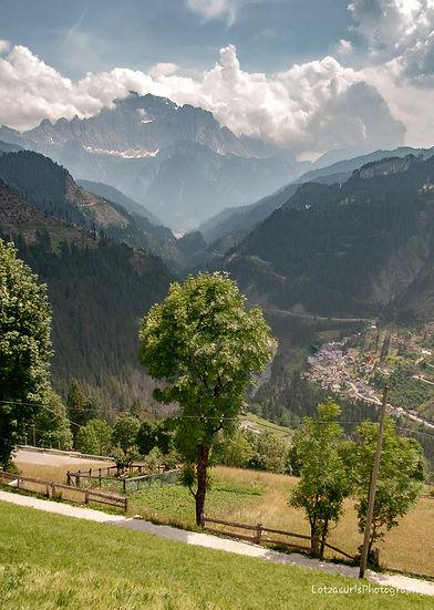 Dolomites crazy mountain roads Italy