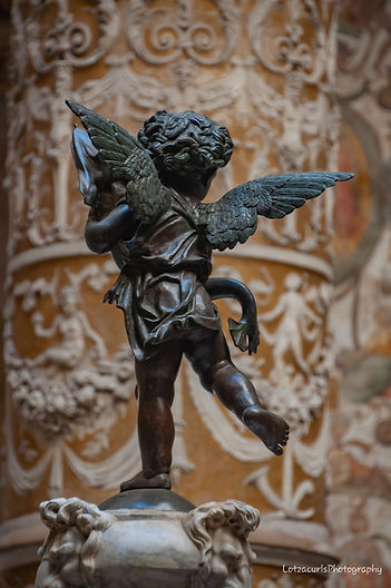 Palazzo Medici cupid Florence Tuscany Italy