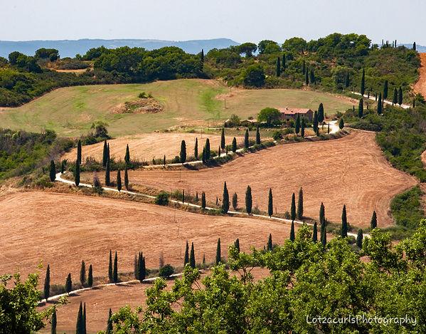 La Foce Southern Tuscany Italy winding roads