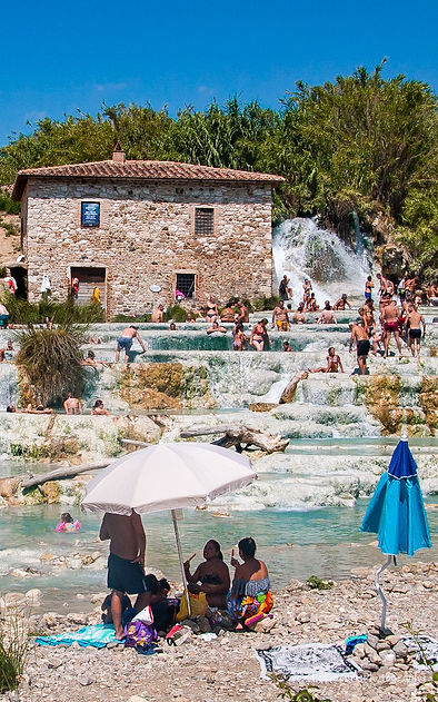 Saturnia baths Tuscany Italy