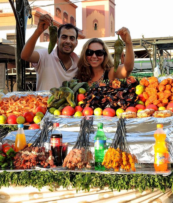 Marrakesh vegetable Djemaa El-Fna Market Morocco