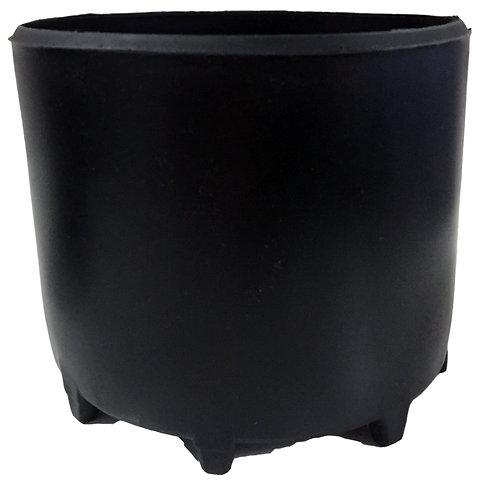 Standfuß für Stahlflaschen 204mm schwarz