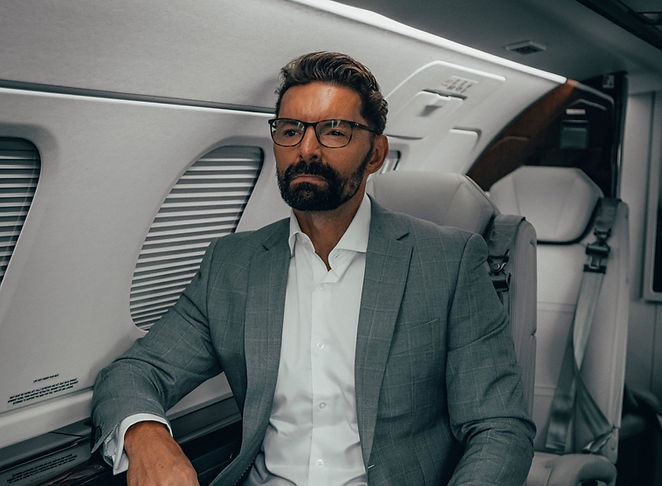 Craig Anthony in a Private Jet
