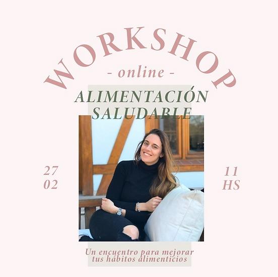 Workshop online de alimentación saludable