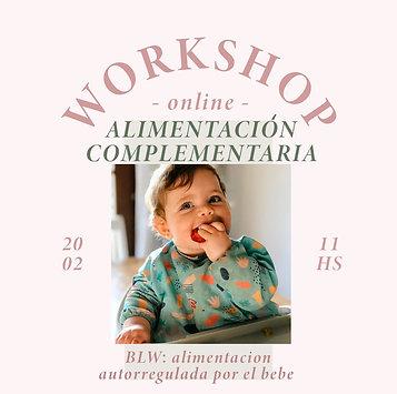 Workshop online de alimentación complementaria