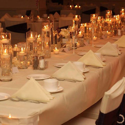 Shannon loved our candlelit head table design from another wedding and wanted it for her day! Happy